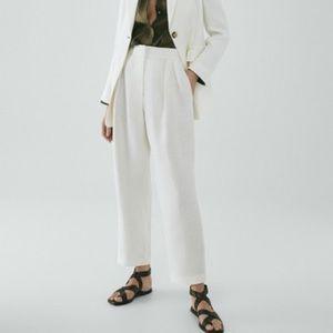 NWT Massimo Dutti pure linen ivory/cream trousers